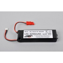 Receiver battery pack, LiFe 6.6v 3200mAh