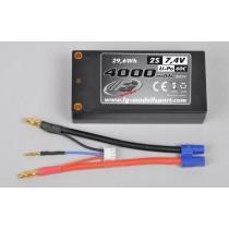 LiPo shorty battery type 2s 7.4v 4000 mAh 60C