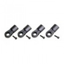 Ball end 10mm with M8 thread, 4 pcs black