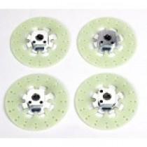 Wheel Squares 10.5 & 12.5mm with brake discs 4pcs