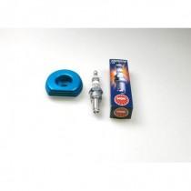 Cylinder Head Heatsink + Iridium Spark Plug 2pcs