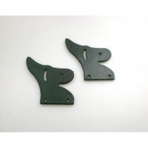 Carbon Curved Rear Wing Plastic End Plates 2pcs