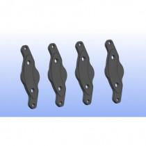 Steel Brake Pads Monoblock 4pcs