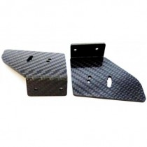 Touring car rear wing carbon endplates supports, 2pcs  (M 20120)